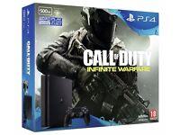 Sony PlayStation 4 Slim 500GB PS4 - 1 week old + Brand New Call Of Duty Infinite Warfare