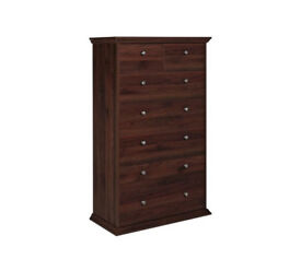 HOME Canterbury 5+2 Drawer Chest - Walnut effect