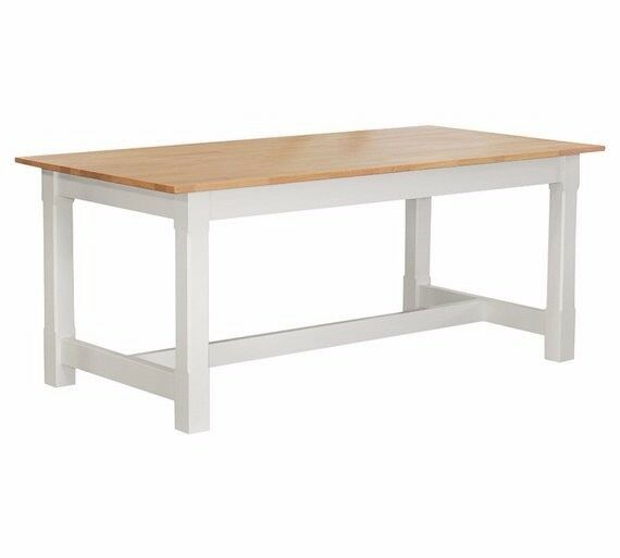 Home of Style Sherington Solid Wood 8 Seater Table - Two Tone