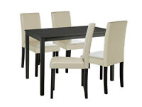 Ex display Alcott Dining Table & 4 Chairs - Cream