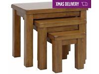 Ex display Arizona Nest of 3 Solid Wood Tables