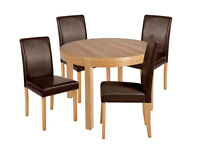 Collection Clifton Extendable Table & 4 Chairs - Chocolate