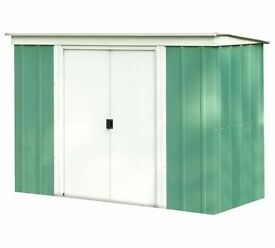 8 x 4 Pent Metal Shed, new, Flatpack.