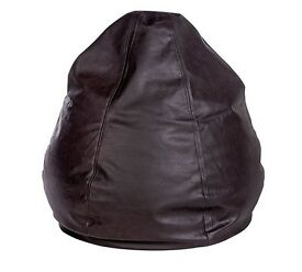 BRAND NEW COMFY LEATHER BEAN BAG CHAIR (SELLS IN STORES FOR £60)