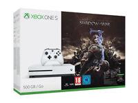 Brand New Xbox One S 500GB Shadow of War Bundle