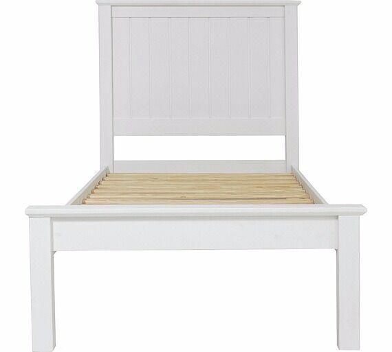 Grafton Single Bed Frame - White (NEW)