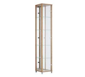 1 Glass Door Display Cabinet - Oak