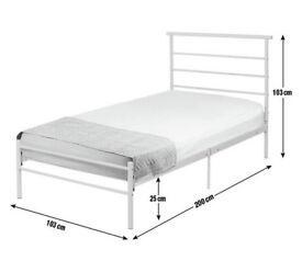 Single bed frame +memory foam mattress