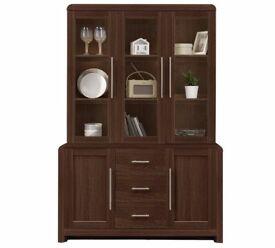 Ex display Elford 3 Door 3 Drawer Cabinet - Walnut Effect