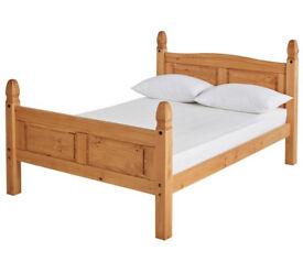 Puerto Rico Kingsize Bed Frame - Pine