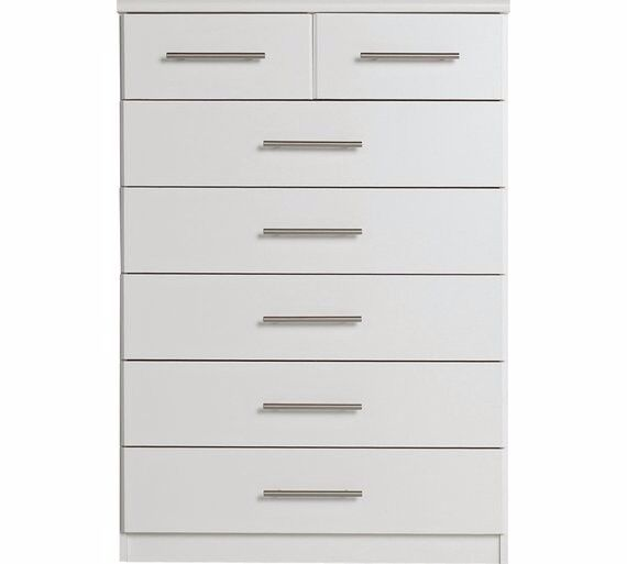 Ex-display Normandy 5+2 Drawer Chest - White