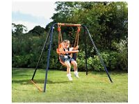 Hedstrom 2-in-1 Deluxe Children's Swing Set, with baby/toddler seat & poles to lengthen frame