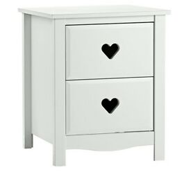 Ex-display Mia 2 Drawer Bedside Chest - White