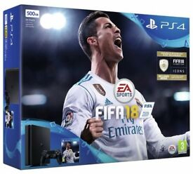Brand New and Sealed PS4 Slim 500GB with Fifa 18 - Sony Playstation Bundle