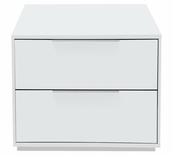 Ex-display Bergen 2 Drawer Bedside Chest - White