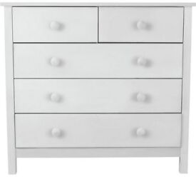 Ex display Scandinavia 3+2 Drawer Chest - White
