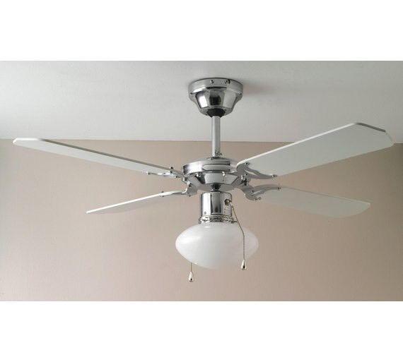 Argos modern white ceiling fan light