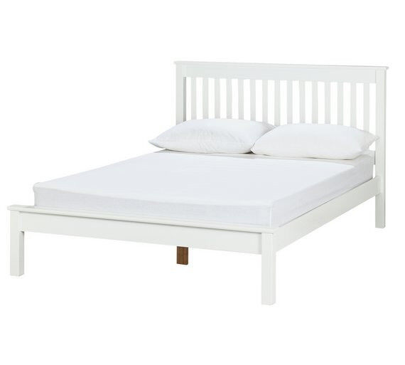 Home Aspley Small Double Bed Frame White In Leicester