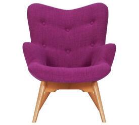 Hygena Angel Fabric Chair - Pink