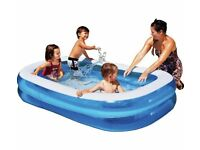 Inflatable, rectangular pool, 6 ft, ca 180 cm