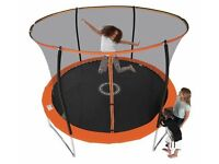 SPORTSPOWER 10FT FOLDING TRAMPOLINE with folding Enclosure