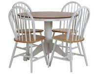 already built up Kentucky Solid Wood Table & 4 Chairs - Two Tone