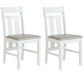 Pair of Castleton Dining Chairs - White