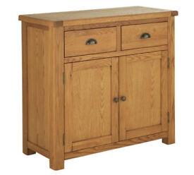Heart of House Kent Small Solid Oak & Oak Veneer Sideboard