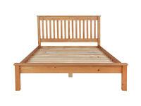 Ex display Aspley Kingsize Bed Frame - Oak Stain