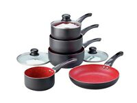 Russell Hobbs Red Stone Aluminium 5 Piece Pan Set