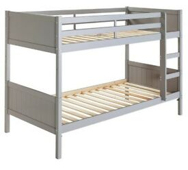 Ex-display Kids Detachable Bunk Bed Frame - Grey