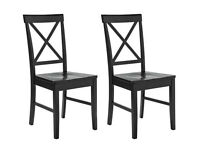 HOME Pair of Black Cross Back Chairs