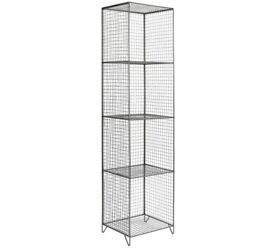Collection 4 Tier Metal Tall Storage Unit - Grey 971.