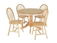 Kentucky Wood Veneer Table & 4 Chairs - Natural