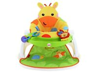 Giraffe bumbo seat with feeding tray