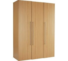 Ex-display Atlas 3 Door Tall Wardrobe - Oak Effect