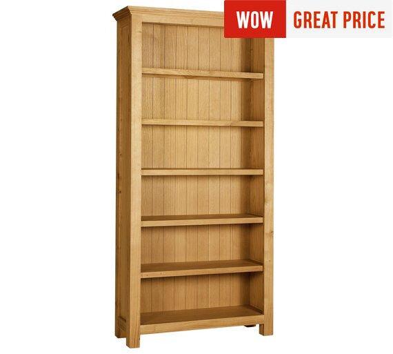 Kingsbury Large Oak & Oak Veneer Bookcase