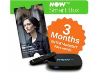 Brand new Now TV SMART BOX + 3 Months Sky Entertainment Pass. Now TV, catchup and freeview tuner