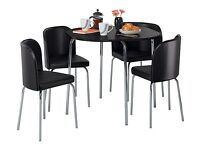 Argos black dining room table with 4 chairs - hygena amparo RRP £114 selling for £70