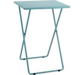Habitat Sea Blue Metal Folding Side Table