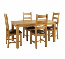 Ex Display Kent Extendable Table & 4 Chairs - Chocolate
