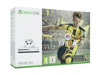 Xbox one s with Fifa 17 and battlefield 1