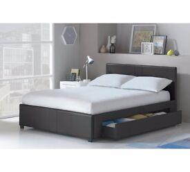 Hygena Keating Double 1 Drawer Bed Frame - Black