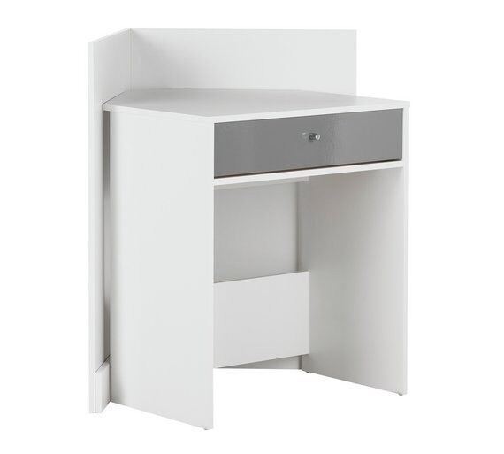 Super Home Gloss Front Compact Corner Desk White In Leicester Leicestershire Gumtree Interior Design Ideas Gresisoteloinfo