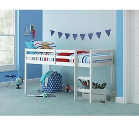 Childrens Mid-Sleeper Bed (Argos) including matress in excellent condition