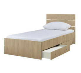 Bedford Single 2 Drawer Bed Frame - Napa Oak