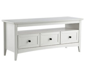 Camborne Solid Wood TV Unit - White