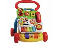 VTech Sit-to-Stand Learning Walker Multicolor With Detachable Play Learning Centre (Used)