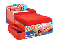 Ex display Disney Cars Toddler Bed with Drawers