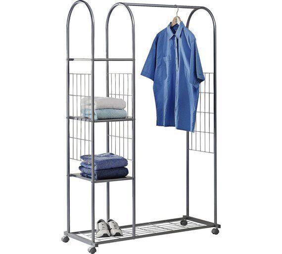 Argos Metal Clothes Rail Wardrobe Shelves